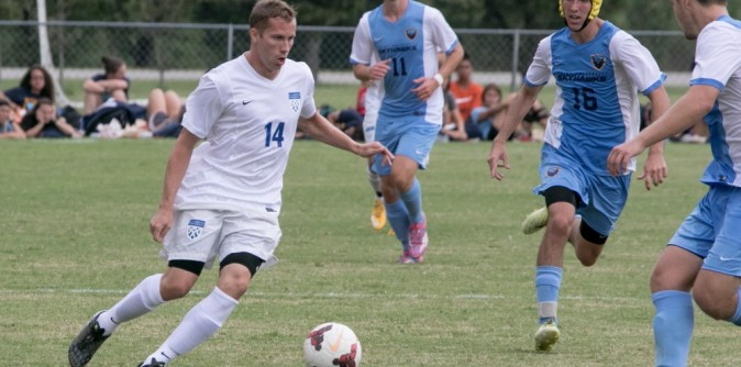 Soccer hangs on to outlast Webber 4-3; improves to 2-0