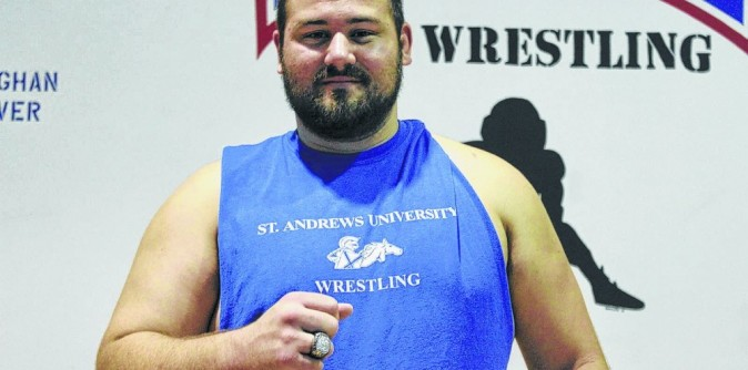Wrestling's Vaughan receives All-American ring at 2015 Camp